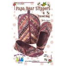 Papa Bear Slippers & Travel Bag Pattern,  Men's Sizes 7-14