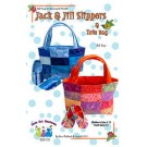 Jack & Jill Slippers and Tote Bag Pattern, Children's Sizes 5 -13, Youth Sizes 1-4