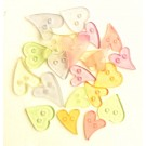 Clear Hearts Pastel Mix