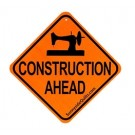 "Construction Ahead Sign, 5.5"" x 5.5"""