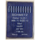 Schmetz Standard Sharp Point Lockstitch Industrial Sewing Machine Needles (Size 10), Round Shank, Box Of 100 Needles