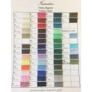 Dress Zippers Colour Chart