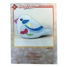 Duftin Punch By Number/Punch Needle Embroidery Bird Figure, 27cm x 17.5cm,  Ivory & Lilac