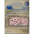 Eyelets 3mm, Pink, 35 count