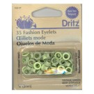 Eyelets 3mm, Green, 35 count