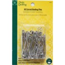 "Curved  Basting Pins, Size 3, 2"", 40 ct, Nickel-Plated Steel"