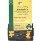 "Flat Butterfly Fine Pins, 2"" (5.1cm), 50 Count"