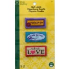 Dritz Sew In Embroidered Quilt Labels - 9 Count - 100% Polyester