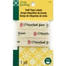 Dritz Twill Tape Labels - Created For You