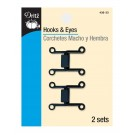 Dritz Hooks & Eyes Rectangle, Gun Metal