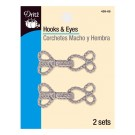 Dritz Hooks & Eyes Closure, Nickel, 2 Sets