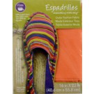 "Dritz Espadrilles Outer Fashion Fabric, 16"" x 22"",  Orange - 50% OFF!"