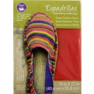 "Dritz Espadrilles Outer Fashion Fabric, 16"" x 22"",  Red - 50% OFF!"