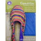 "Dritz Espadrilles Outer Fashion Fabric, 16"" x 22"",  Dark Blue - 50% OFF!"