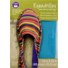 "Dritz Espadrilles Outer Fashion Fabric, 16"" x 22"",  Sky Blue - 50% OFF!"