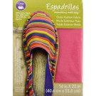 "Dritz Espadrilles Outer Fashion Fabric, 16"" x 22"",  Pink - 50% OFF!"