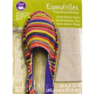 "Dritz Espadrilles Outer Fashion Fabric, 16"" x 22"",  Metallic Gold Hot Stamped - 50% OFF!"