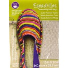 "Dritz Espadrilles Outer Fashion Fabric, 16"" x 22"",  Metallic Silver Hot Stamped - 50% OFF!"
