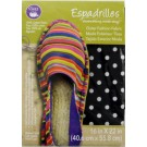 "Dritz Espadrilles Outer Fashion Fabric, 16"" x 22"",  Black with White Dots - 50% OFF!"