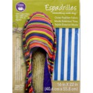 "Dritz Espadrilles Outer Fashion Fabric, 16"" x 22"",  Dark Blue and White Stripe - 50% OFF!"