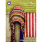 "Dritz Espadrilles Outer Fashion Fabric, 16"" x 22"",   Red and White Stripe - 50% OFF!"