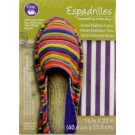 "Dritz Espadrilles Outer Fashion Fabric, 16"" x 22"",  Purple and White Stripe - 50% OFF!"