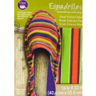 "Dritz Espadrilles Outer Fashion Fabric, 16"" x 22"",   Multi Stripes of White, Green, Orange, and Purple - 50% OFF!"