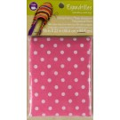 "Dritz Espadrilles Lining Fabric, 16"" x 22"",  Pink with White Dots - 50% OFF!"