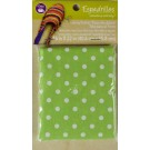"Dritz Espadrilles Lining Fabric, 16"" x 22"",  Green with White Dots - 50% OFF!"
