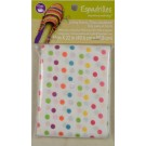 "Dritz Espadrilles Lining Fabric, 16"" x 22"",  Multi Color Dots of Yellow, Pink, Rose, Sky Blue, Red Orange, Lilac and Green - 50% OFF!"