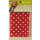 "Dritz Espadrilles Lining Fabric, 16"" x 22"",  Red with White Dots - 50% OFF!"