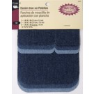 Denim Iron-On Patches, Assorted Colours & Sizes, 12 Pieces