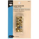 Dritz Large Eyelet Kit, Brass, 15pc.