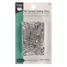 Curved Safety Pins, 40 Count, 38mm