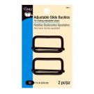 "Dritz Adjustable Slide Buckles in Black, 1.5"", 2pc."