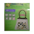 Button-On Round Natural Bag