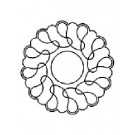 Loop Wreath Stencil - 8''