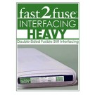 "Fast2Fuse, Heavy Weight Double-Sided Fusible Stiff Interfacing, 20"" x 10 Yards"