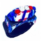 Limited Edition Bedazzled Thread Cutterz Ring in Red, White & Blue/Single Row Swarovski Crystals - 30% OFF!