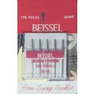 Beissel Sz 70 Denim/Jeans Machine Needles, 5 Count