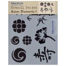 "Indygo Junction Quilt Stencil - Asian Elements, 8.5""x11"""