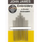 John James Embroidery Needles, Size 3/9, 16 Count