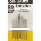 John James Embroidery Needles, Size 5/10, 16 Count