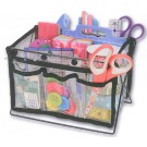 "June Tailor Clear Storage Caddy Expanding interior basket opens to 8.5"" x 5"" x 6.25"" deep with 6 exterior pockets (Tools not included)"