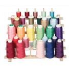 June Tailor Medium Wooden Thread Rack with Legs (Ideal For Size 33 Cones)