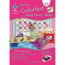 "Colorfast Printer Fabric Sheets, White, 3 Sheets, 8.5"" x 11"""