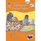 Computer Printer Fabric, White - 4 Sheets