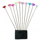 Kinki Amibari Knitting Marking Pins in Assorted Colours, 10pc
