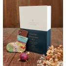 Kinki Amibari Crochet Ornament Kit with Mini Stocking & Mini Charm, Blue Label