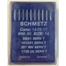 Schmetz Standard Sharp Point Lockstitch Industrial Sewing Machine/Longarm Needles (Size 14), Round Shank, Box of 100